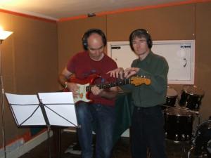 Ian records with John