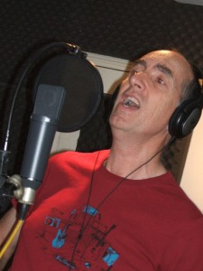 Ian records the lead vocal