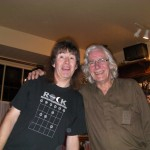 Rob with John, the Barley Mow host