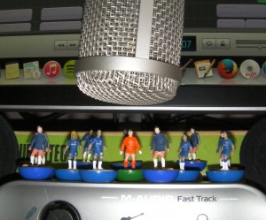The Chelsea squad record their awful cup final song at 'Shabby Road Studios'